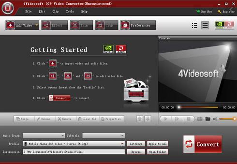 4Videosoft 3GP Video Converte
