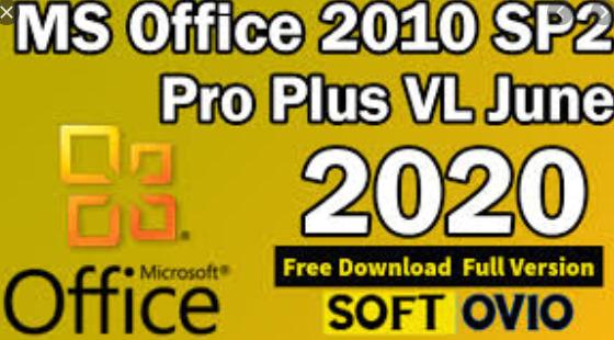 MS Office 2010 SP2 Pro Plus VL X86 JUNE 2020