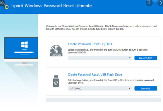 Tipard Windows Password Reset Ultimate
