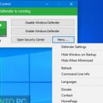 Windows Defender Easy Disabler Enabler Tool Script