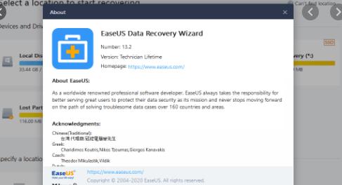 EaseUS Data Recovery Wizard Technician 2020