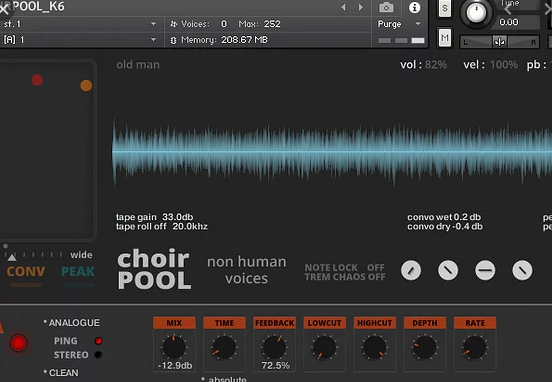 sound DUST – CHOIRPOOL (KONTAKT)