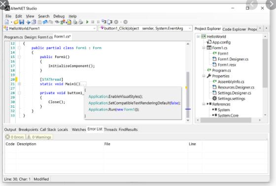 AlterNET Software Extensibility Studio