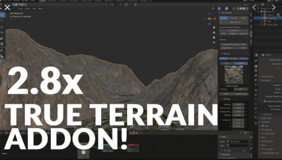 True-Terrain Plugin for Blender
