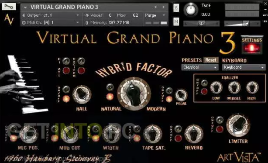 Art Vista – Virtual Grand Piano 3 (KONTAKT)
