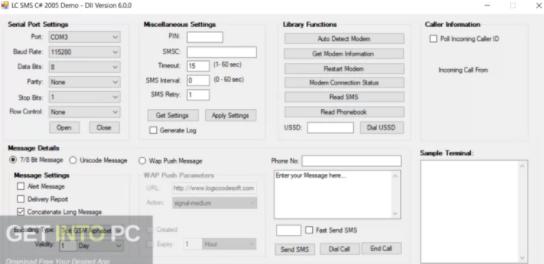 Logiccode GSM SMS ActiveX Dll