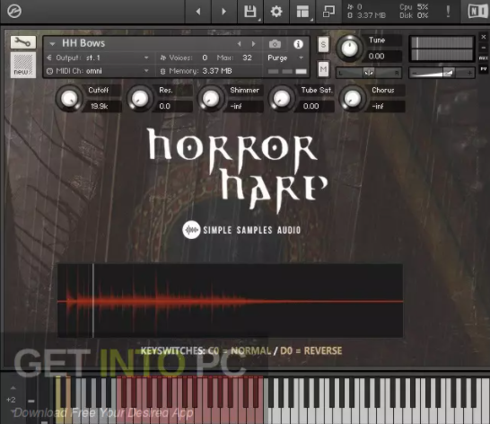 Simple Samples – Horror Harp 2.0 (KONTAKT)