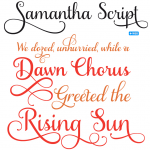 Samantha Script Font Family