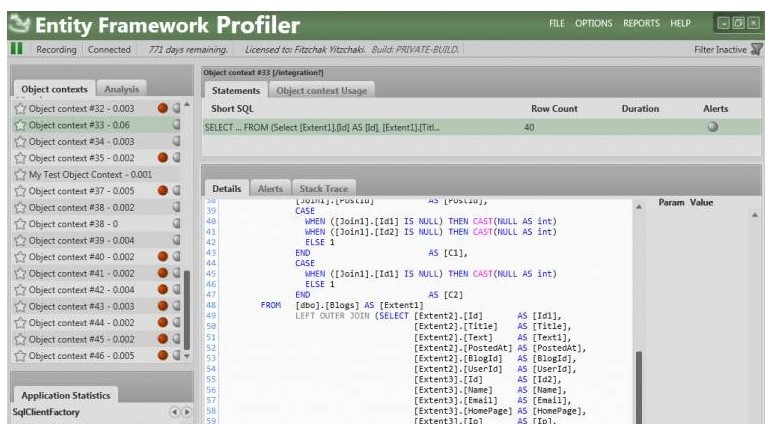 Entity Framework Profiler 4
